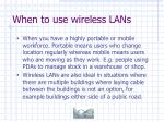 when to use wireless lans36