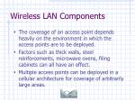 wireless lan components22