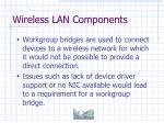 wireless lan components27