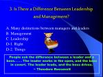 3 is there a difference between leadership and management