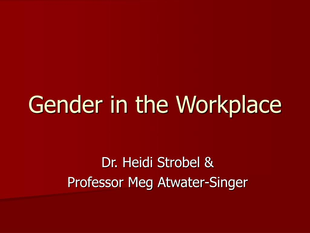 gender in the workplace l.