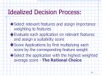 idealized decision process