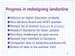 progress in redesigning landonline