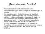feudalismo en castilla