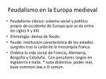 feudalismo en la europa medieval