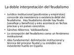 la doble interpretaci n del feudalismo