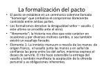 la formalizaci n del pacto