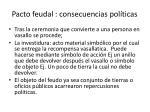 pacto feudal consecuencias pol ticas