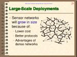large scale deployments