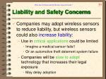 liability and safety concerns