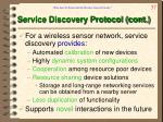 service discovery protocol cont