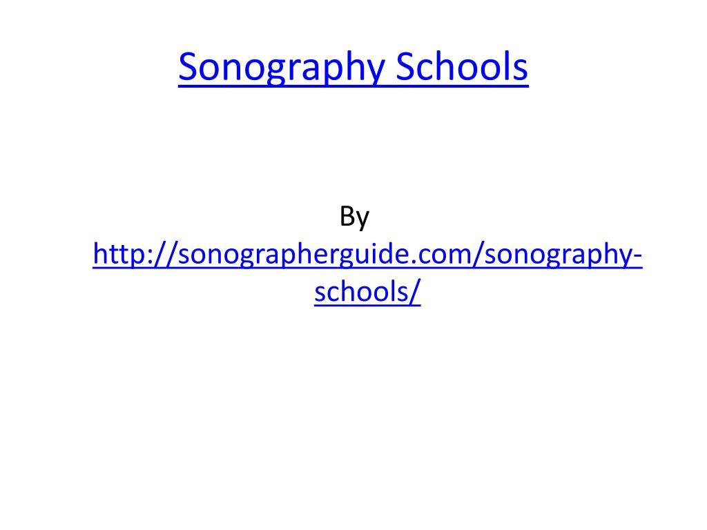 sonography schools l.
