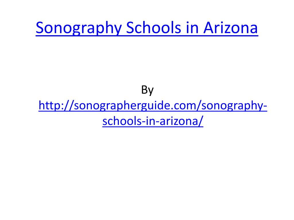 sonography schools in arizona l.