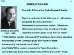 arnold wilkins