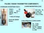 pulsed radar transmitter components
