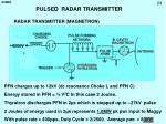 pulsed radar transmitter