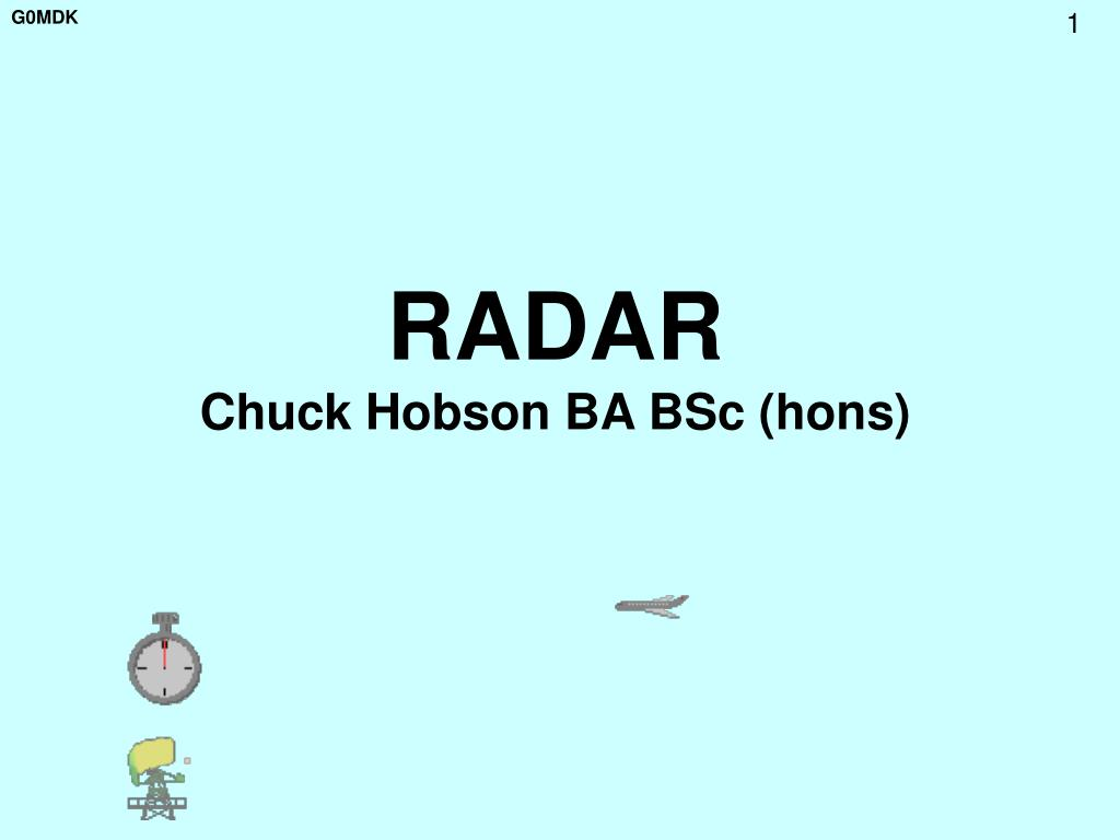 radar chuck hobson ba bsc hons l.