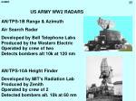 us army ww2 radars