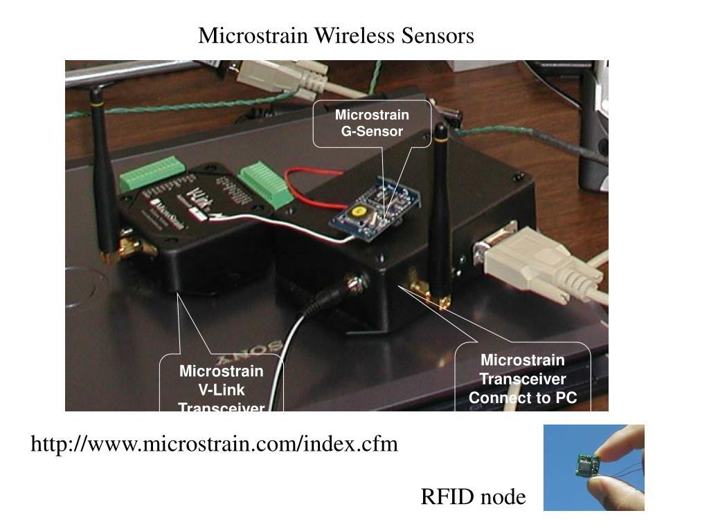 Microstrain Wireless Sensors