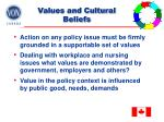 values and cultural beliefs