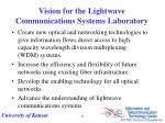 vision for the lightwave communications systems laboratory