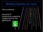 wireless networks our vision1