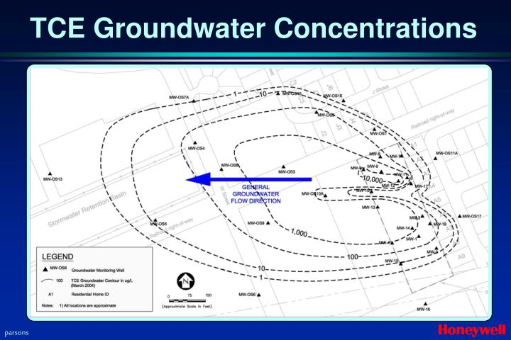 TCE Groundwater Concentrations