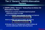 tier 2 generic usepa attenuation factors