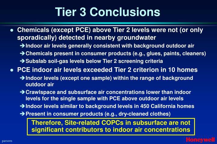 Tier 3 Conclusions