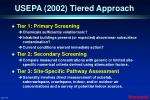 usepa 2002 tiered approach
