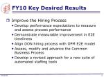fy10 key desired results