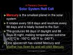 a planetary overview solar system roll call1