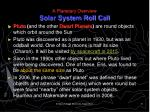 a planetary overview solar system roll call8
