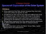 a planetary overview spacecraft exploration of the solar system3