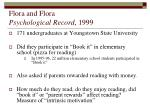 flora and flora psychological record 1999