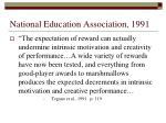 national education association 1991