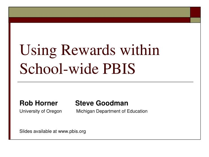 using rewards within school wide pbis n.
