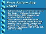 texas pattern jury charge