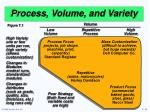 process volume and variety