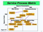 service process matrix