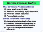 service process matrix41