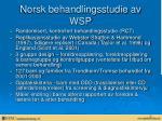 norsk behandlingsstudie av wsp
