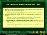 the new deal revives organized labor