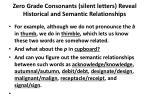 zero grade consonants silent letters reveal historical and semantic relationships