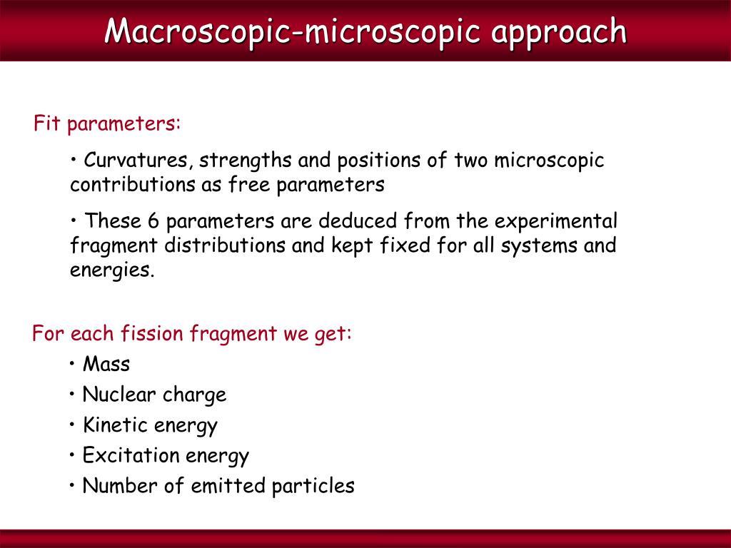 Macroscopic-microscopic approach