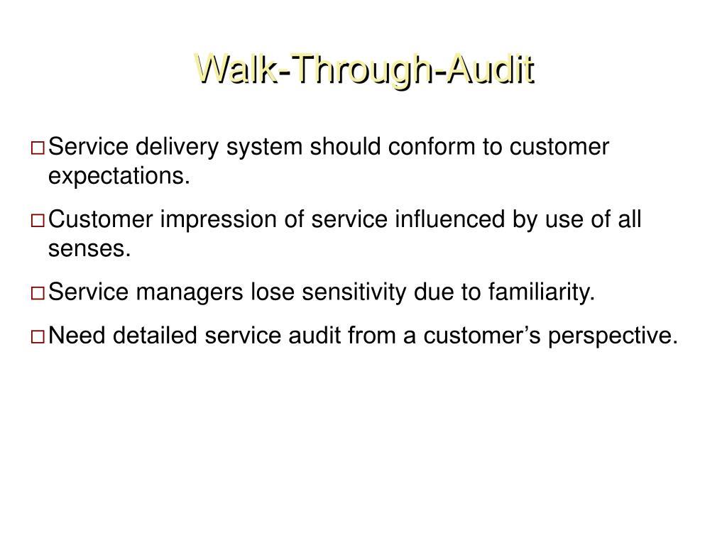 Walk-Through-Audit