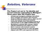 solution veterans