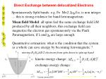 direct exchange between delocalized electrons