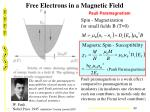 free electrons in a magnetic field