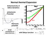 normal thermal expansion